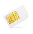realistic detailed 3d white mockup sim card vector image