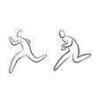 running gestures vector image vector image