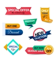 Sale discount origami banners vector image vector image