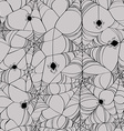 Seamless pattern of spider web vector image