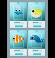 set sea animal templates for web design 2 vector image