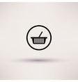 Shopping basket icon Template for design vector image