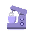 side view picture of kitchen mixer food processor vector image vector image