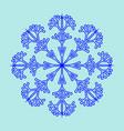 snowflake sign 2411 vector image