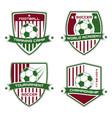 soccer emblem football logotype sport vector image vector image