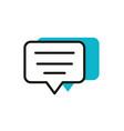 speech bubble social media icon line and fill vector image