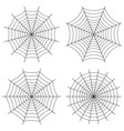 spider web set of icons cute gothic style vector image vector image