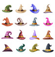 spooky evil witch old hat decoration october vector image vector image