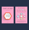 start up idea path to success infographic posters vector image vector image