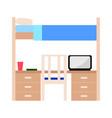 student dorm room vector image
