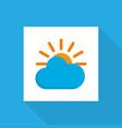 sun icon flat symbol premium quality isolated vector image