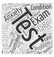 test anxiety Word Cloud Concept vector image vector image