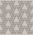 triangle lattice seamless pattern vector image