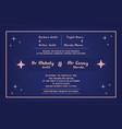 wedding invitation template certificate backgrou vector image