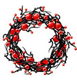 wreath interwoven branches with apples vector image