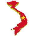 3d map of vietnam vector image vector image