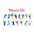 a group dancing people in different poses and vector image vector image