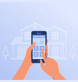 a smartphone with smart home settings and vector image vector image