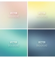 Abstract colorful blurred backgrounds set 14 vector image