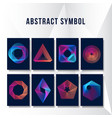 abstract modern ornament background collection vector image vector image
