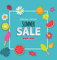 abstract tropical summer sale background vector image