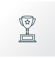 award cup icon line symbol premium quality vector image vector image