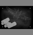binoculars and fighter vector image vector image