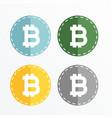 bitcoin symbol icons design vector image vector image