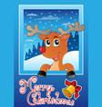 christmas theme greeting card 9 vector image vector image