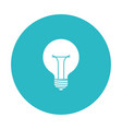 circle light blue with bulb light icon vector image vector image