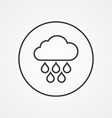 cloud rain outline symbol dark on white background vector image vector image