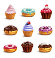cookie sweets icon set vector image vector image