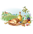 Country Still life against landscape vector image vector image