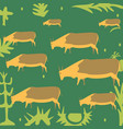 cows in meadow vector image