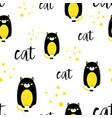 cute cat seamless pattern in scandinavian style vector image vector image