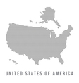 Dotted USA map on white background vector image vector image