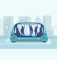 driverless car technology vector image vector image