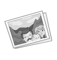 Family photo portrait icon in monochrome style vector image vector image