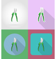 garden tools flat icons 14 vector image vector image