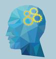 Gear Head Concept vector image vector image