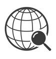 globe black icon travel around world symbol vector image vector image