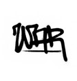 graffiti tag war sprayed with leak in black vector image vector image