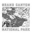 grand canyon national park icon vector image