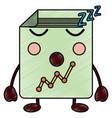 graph chart sleeping kawaii icon image vector image