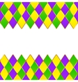 Green purple yellow grid Mardi gras frame vector image vector image