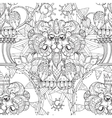Hand drawn doodle outline lion in circus vector image vector image