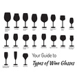 Hand drawn isolated wine glasses vector image