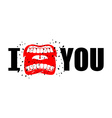 I hate you shout symbol of hatred and antipathy vector image vector image
