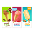 Ice Cream Vertical Banners vector image vector image