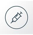 injection icon line symbol premium quality vector image